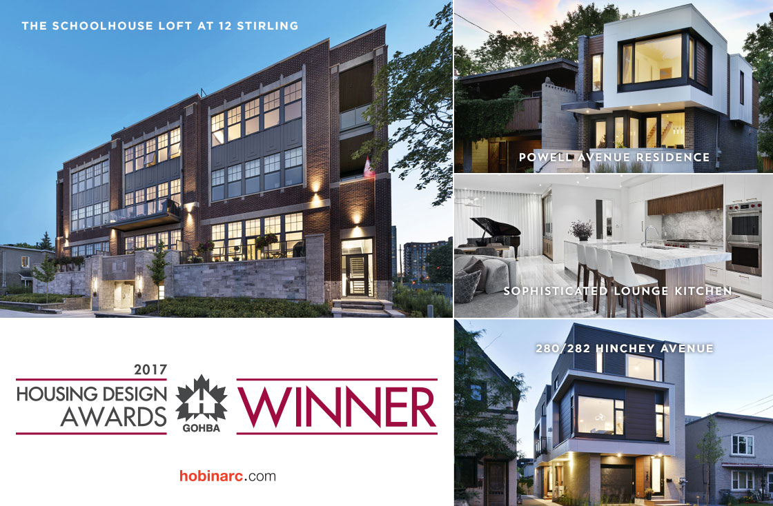 Making The List Of Finalists In Nine Categories, Six Awards (swooping The  Condo Category With Three Trophies) Is A Significant Achievement For The  Hobin ...